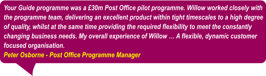 Willow Project Management Testimonials